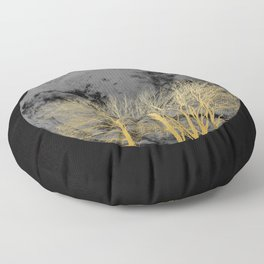 Golden moon Floor Pillow