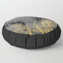 Golden moon Floor Pillow