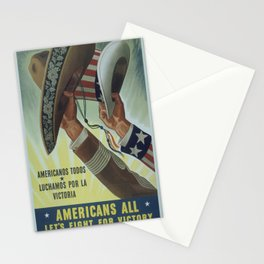Vintage poster - Americans All Stationery Cards