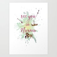 narnia Art Prints featuring See you in Narnia by Sybille Sterk