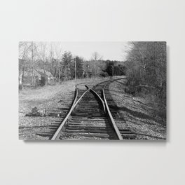 Where Tracks Diverge Metal Print