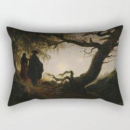 Caspar David Friedrich - Man and Woman contemplating the moon (1824) Rectangular Pillow