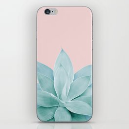 Blush Agave #2 #tropical #decor #art #society6 iPhone Skin