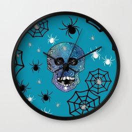 Creepy Crawling Spiders Wall Clock
