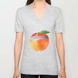 Peach booty Unisex V-Neck