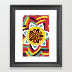 Mandala Love Pattern Framed Art Print