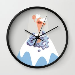 montain mouth Wall Clock