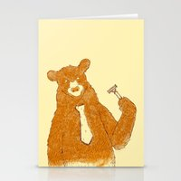 office Stationery Cards featuring Office Bear by Tobe Fonseca