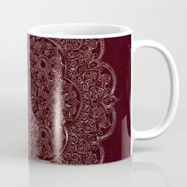Royal Burgundy Rose Gold Marble Mandala Coffee Mug