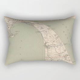 Vintage Map of Lower Cape Cod (1891) Rectangular Pillow