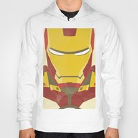iron man Hoodies featuring IRON MAN by LindseyCowley
