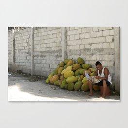 Jackfruit for Sale Canvas Print