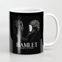 hamlet Mugs featuring Hamlet: Prince of Mars by Caitlin Taduran