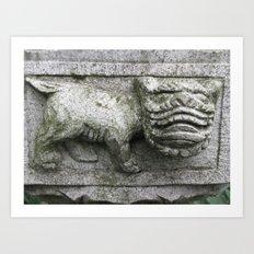 Little Stone Monster Art Print