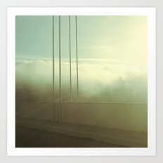 Fog Over San Francisco Bay Bridge Art Print