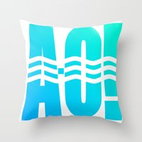 Throw Pillows featuring RIVER! by Gold Lining