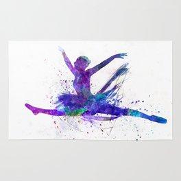 Woman ballerina ballet dancer dancing Rug