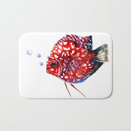 Scarlet Red Discus Bath Mat