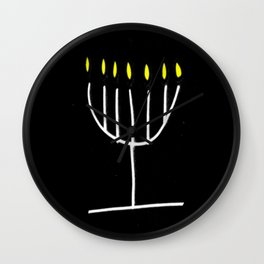 menorah,Hanukkah,jewish,jew,judaism,Festival ofLights,Dedication,jerusalem,lampstand,Temple Wall Clock