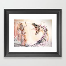 Leviathan against Shiva Framed Art Print