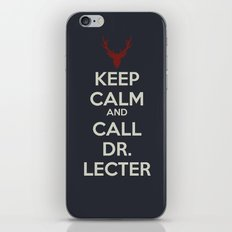Keep Calm and Call Dr. Lecter iPhone & iPod Skin