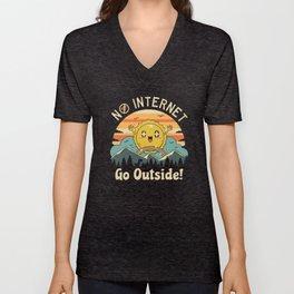 No Internet Vibes! Unisex V-Neck