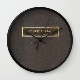 An Antique Book With the Title Confidential Wall Clock