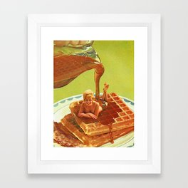 Pour some syrup on me - Breakfast Waffles Framed Art Print