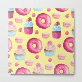 Yummy Sweet Treat Pattern Metal Print