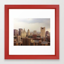 NYC Smokey Framed Art Print
