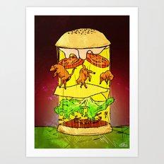 UFO Burger Art Print