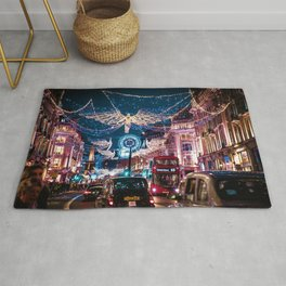 London Christmas Lights (Color) Rug