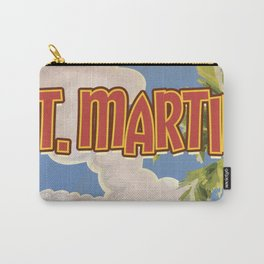 St Martin vintage vacation travel poster Carry-All Pouch