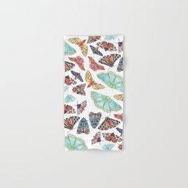Nature Illustration of Moths Hand & Bath Towel