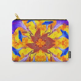 Purple & Gold Floral Design Carry-All Pouch