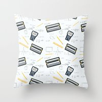 math Throw Pillows featuring Math by S. Vaeth