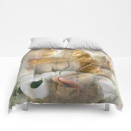 rebirth / digital painting / wacom brushwork / & photo filtering Comforters