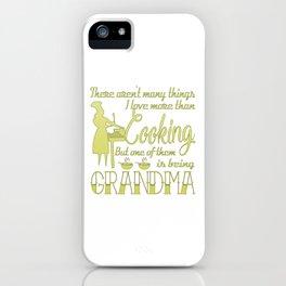 Cooking Grandma iPhone Case