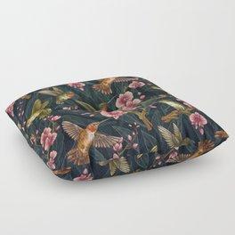 Hummingbird Pattern Floor Pillow