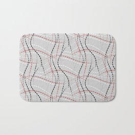 Stitches Abstract Bath Mat