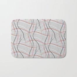Stitches Abstract Bath Mat