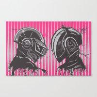 daft punk Canvas Prints featuring Daft Punk by Ren Davis