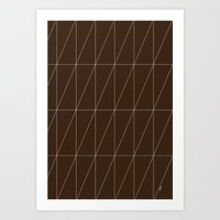 Brown Triangles by Friztin Art Print