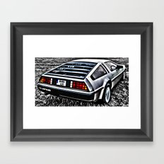Where We're Going, We Don't Need Roads! Framed Art Print