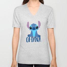 Stitch Ohana Unisex V-Neck