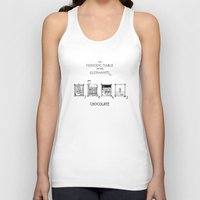 chocolate Tank Tops featuring Chocolate by DS Art