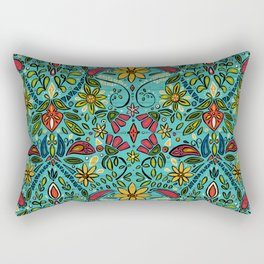 aziza turquoise Rectangular Pillow