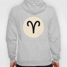 Aries Symbol Black Hoody