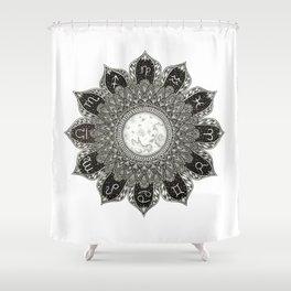 Astrology Signs Mandala Shower Curtain