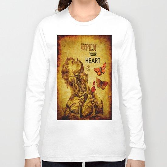 Open your Heart  Long Sleeve T-shirt